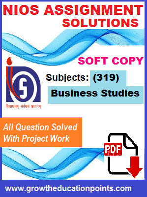 Nios business studies solved Assignment