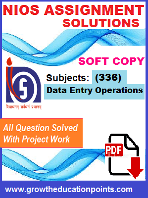 Nios solved Assignment data entry 336