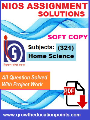 Home Science 321 Solved Assignment