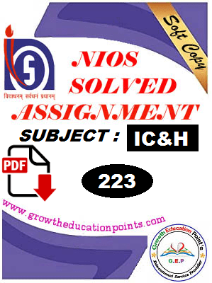 Nios-223 Indian culture and Heritage Solved Assignment