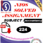 nios accountancy 224 solve assignment pdf